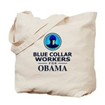 Blue Collar Workers for Obama Tote Bag