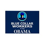 Blue Collar Workers for Obama Rectangle Magnet (10