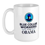 Blue Collar Workers for Obama Large Mug