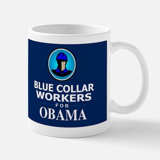 Blue Collar Workers for Obama Dark Mug