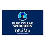 Blue Collar Workers for Obama Rectangle Sticker