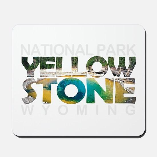 Yellowstone - Wyoming, Montana, Idaho Mousepad