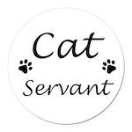 Cat Servant Round Car Magnet
