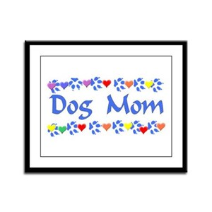Dog Mom Framed Panel Print