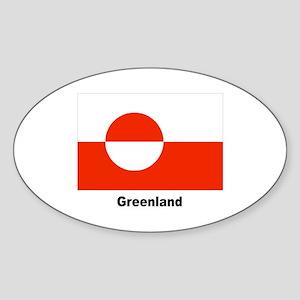 Greenland Flag Oval Sticker