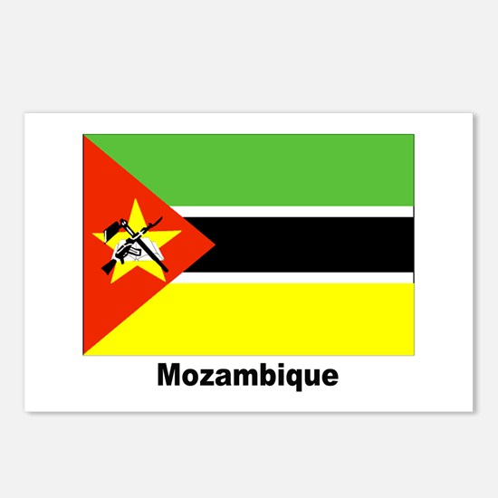 Mozambique Flag Postcards (Package of 8)
