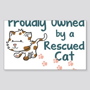 Proudly Owned (Cat) Rectangle Sticker