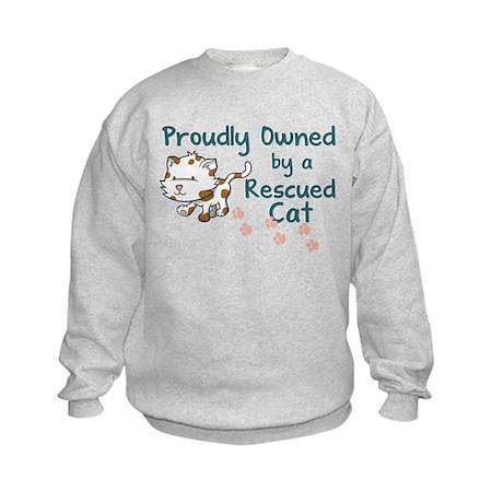 Proudly Owned (Cat) Kids Sweatshirt