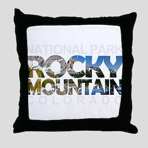Rocky Mountain - Colorado Throw Pillow