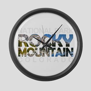 Rocky Mountain - Colorado Large Wall Clock