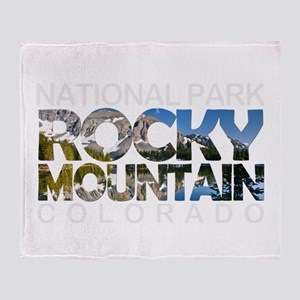 Rocky Mountain - Colorado Throw Blanket