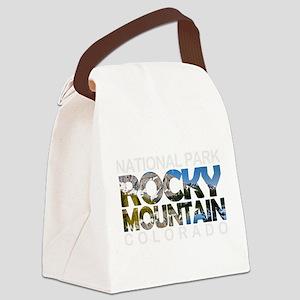 Rocky Mountain - Colorado Canvas Lunch Bag