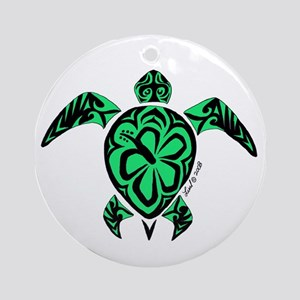 Tribal Turtle Ornament (Round)