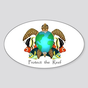 Save the Reef Oval Sticker