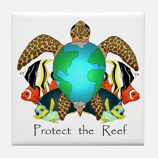 Save the Reef Tile Coaster