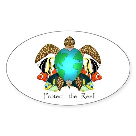Save the Reef Oval Sticker (50 pk)
