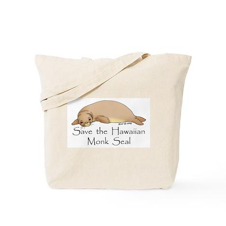 Monk Seal Tote Bag