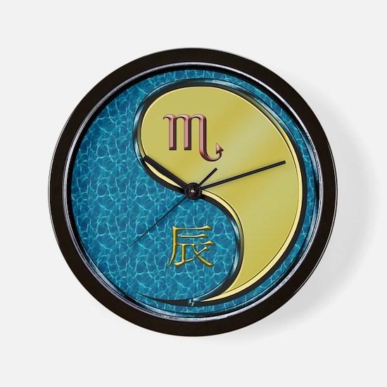 Scorpio & Metal Dragon Wall Clock