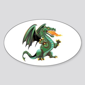Dragon Oval Sticker