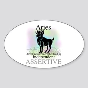 Aries the Ram Oval Sticker