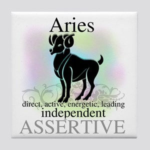 Aries the Ram Tile Coaster