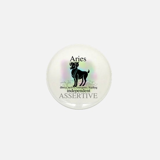 Aries the Ram Mini Button