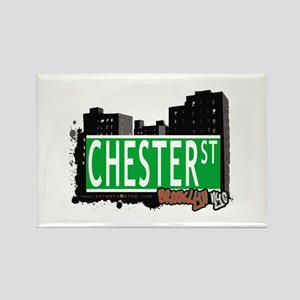 CHESTER STREET, BROOKLYN, NYC Rectangle Magnet