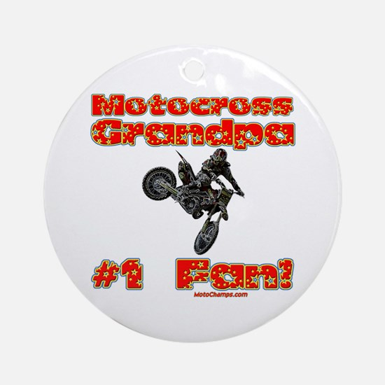 """Motocross Grandpa"" Ornament (Round)"