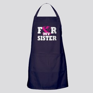 For My Sister Breast Cancer Awareness Apron (dark)