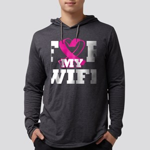 For My Wife Breast Cancer Awar Long Sleeve T-Shirt