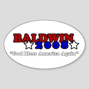 Baldwin 2008 Oval Sticker (10 pk)