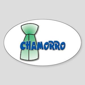 Chamorro Oval Sticker