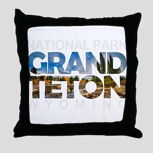 Grand Teton - Wyoming Throw Pillow