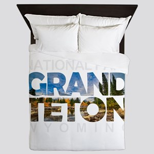 Grand Teton - Wyoming Queen Duvet