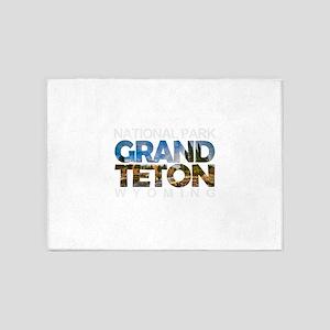 Grand Teton - Wyoming 5'x7'Area Rug