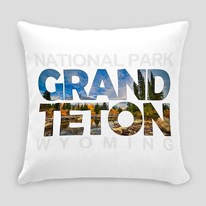 Grand Teton - Wyoming Everyday Pillow