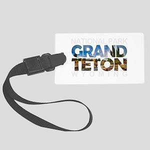 Grand Teton - Wyoming Large Luggage Tag
