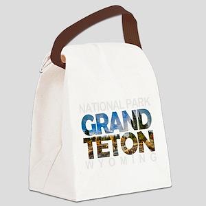 Grand Teton - Wyoming Canvas Lunch Bag