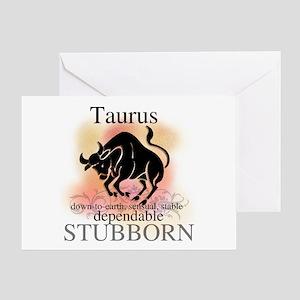 Taurus the Bull Greeting Card