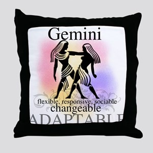 Gemini the Twins Throw Pillow