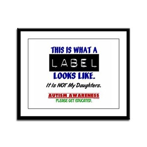 Label 1 Autism (Daughters) Framed Panel Print