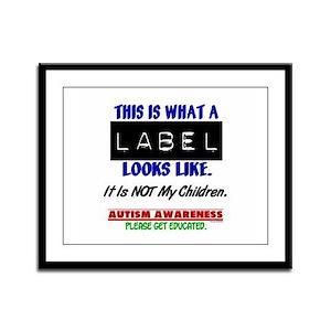 Label 1 Autism (Children) Framed Panel Print