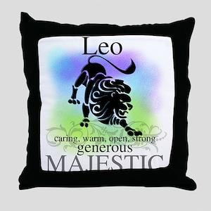 Leo the Lion Zodiac Throw Pillow