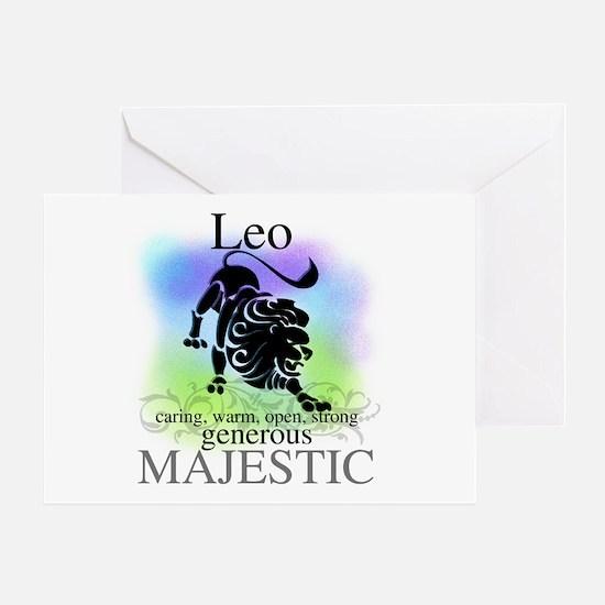 Leo the Lion Zodiac Greeting Card