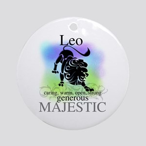 Leo the Lion Zodiac Ornament (Round)
