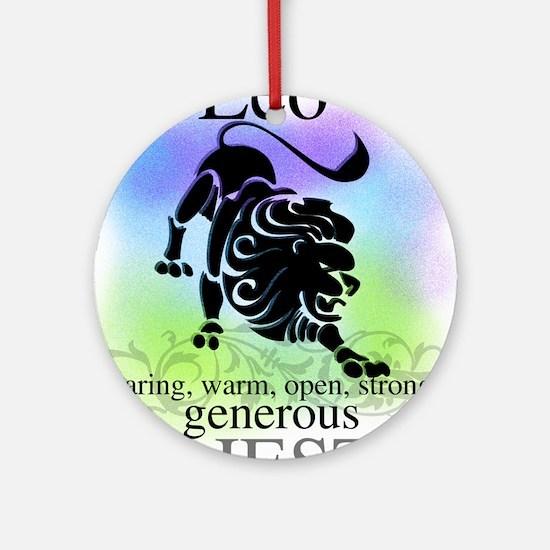 Leo the Lion Zodiac Ornament (Round)