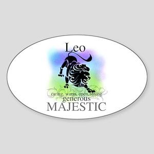 Leo the Lion Zodiac Oval Sticker