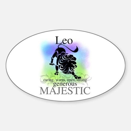 Leo the Lion Zodiac Oval Decal