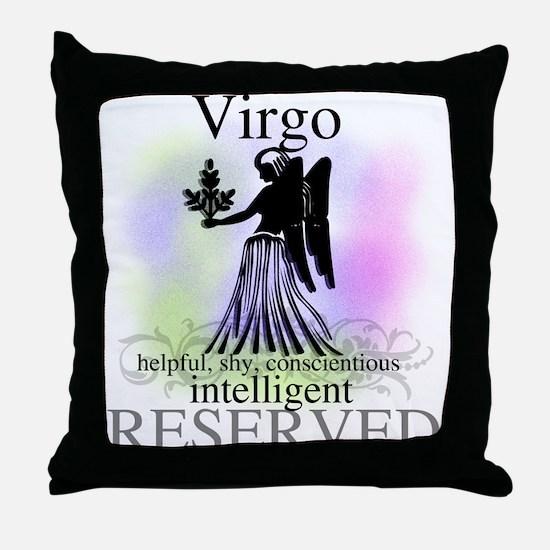 Virgo the Virgin Throw Pillow