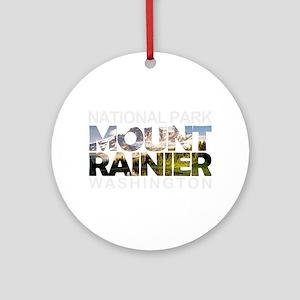 Mount Rainier - Washington Round Ornament